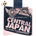Soft enamel zinc alloy custom logo jiu jitsu metal medal for Japan