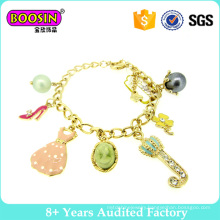 Lovely Gold Plated Charm Bracelet for Girls