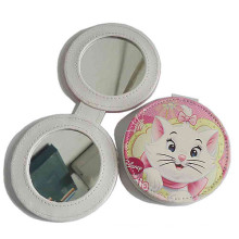 Promocional Lady PU de cuero compacto compone el espejo (B2001)