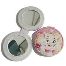 Promocionais Lady PU couro compacto compõem espelho (B2001)