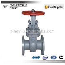 Rusia estándar de levantar el vástago de acero de tratamiento de aguas residuales tubería de tubería utilizado puerta de la válvula PN16