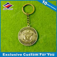 Benutzerdefinierte Metallmünze Schlüsselbund für Souvenir