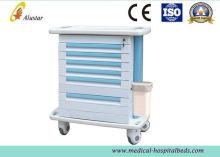 Luxurious Hospital Equipment Abs Medicine Cart Medical Trolley With Drawers, File Bag (als-mt124)