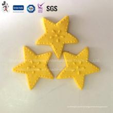 Decoração de bolo de argila polímero estrela amarela