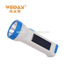 Lampe-torche solaire rechargeable portative haut de gamme de LED avec le chargeur de secours