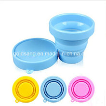 Fashion Heat-Resistant and Portable Silicone Foldable Cup for Promotion