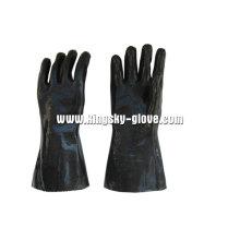 Schwarzes Neopren Glattes Finish Industrial Handschuh-5342