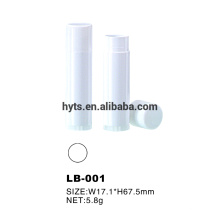 5.8g plastic white color lip balm stick tube