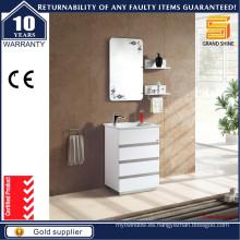 Moderno piso montado MDF unidad de tocador de baño blanco para el australiano