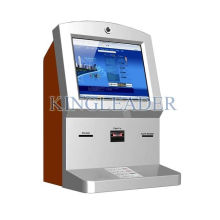 Currency Exchange Wall Mount Touchscreen Kiosk With Cash Acceptor
