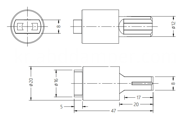 Vane Damper for Cooking Bench