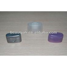 Plastic creme cosméticos super oval tampa para tubo