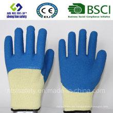 10g Kevlar Liner con guantes de trabajo de revestimiento de látex Smart Grip de 3/4