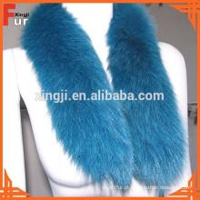 Guarnição de pele real, pele de raposa, acessórios de vestuário