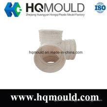 Moulage par injection en plastique de garnitures de tuyau de coude de cinq manières