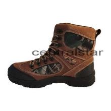 Encaje gasa handcut Camel cuero tobillo zapatos de senderismo (CA-19)