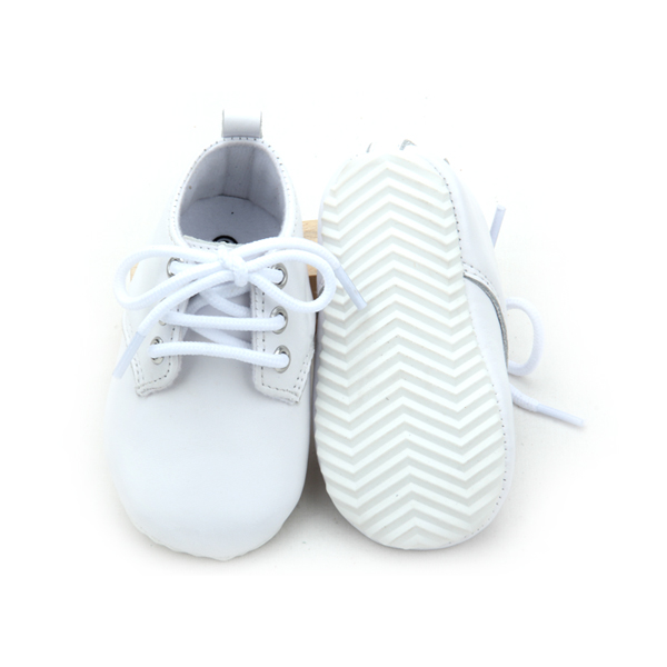 New Design White Leather Baby Casual Shoes