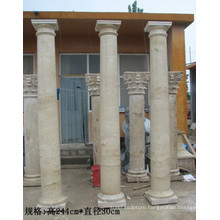 Marble home outdoor decor pillar marble columns for sale