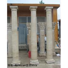Colunas de mármore ao ar livre de mármore home da coluna da decoração para a venda