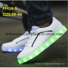 Les dernières chaussures d'hommes de la mode LED d'hommes de dernières chaussures de sport (FF416-1)
