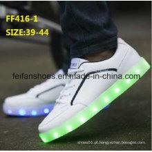 Os homens os mais atrasados do OEM formam sapatas claras do esporte da luz do diodo emissor de luz (ff416-1)