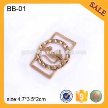 BB01 Custom Adjustable Slider Gürtelschnalle Metall Tri-Gleitschnalle für Tasche