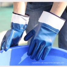 NMsafety EN388 4221 Blaue Nitril Heavy Duty Sicherheitsmanschette Sicherheit wokr Handschuhe