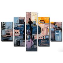 Peinture à l'huile abstraite abstraite de toile de conception de mode