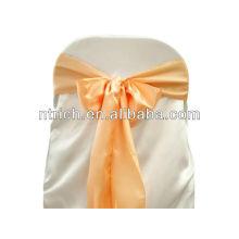 Peach Satin chair sash, chair ties, wraps for wedding banquet hotel