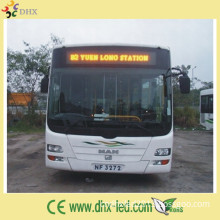 P7.62 Yellow Color LED Display Sign for Bus