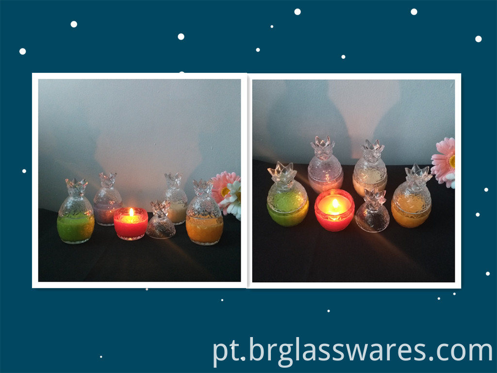 glass candle jar 10