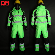 Heavy Duty Work Overalls with Reflective Safety Tape