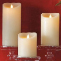 luminara vanilla flameless pillar candles
