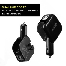 Chargeur de batterie automatique Mobilephone Dual Usb Car Charger