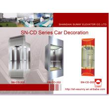 Cabine d'ascenseur d'observation avec le panneau d'acier inoxydable (SN-CD-201)