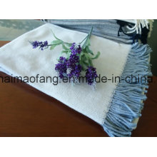 Tejido de espiguilla tejida Tejido de algodón con borlas