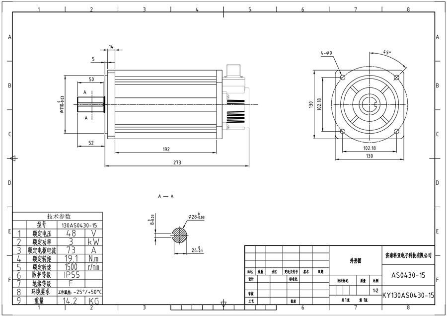 3kw Bldc Motor