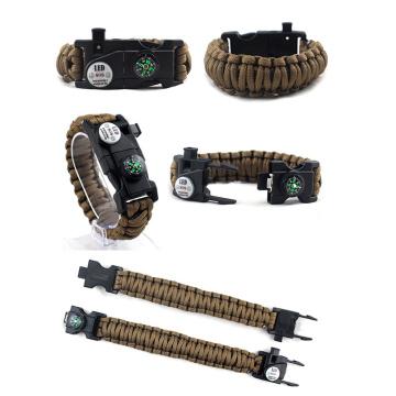 Survival Paracord Bracelet LED Multi-function Bracelet