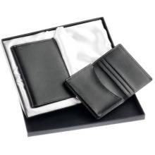 Leather Giftset of Passport Holder/Card Holder (GF-002)
