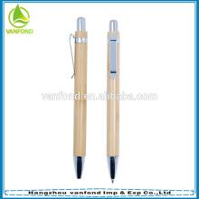Bambou papeterie recyclé stylo à bille avec crayon mécanique