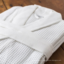 Hotel casa atacado unisex 50/50 poli algodão waffle bathrobe