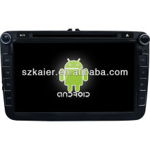 Reproductor de DVD del coche Android System para VW Magotan con GPS, Bluetooth, 3G, iPod, juegos, zona dual, control del volante