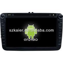 Android System lecteur dvd de voiture pour VW Magotan avec GPS, Bluetooth, 3G, ipod, jeux, double zone, contrôle du volant