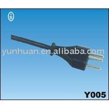 Brasil tipo Uciee aprobación del enchufe del cable de alimentación cable alambre Qiaopu