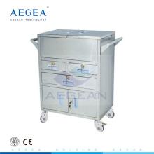 АГ-SS028 медицинского оборудования 4 колес больница тележка для продажи