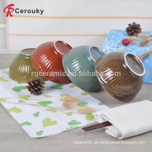 Günstige wiederverwendbare Porzellanschale, kundenspezifische Porzellanschale Salatschüssel