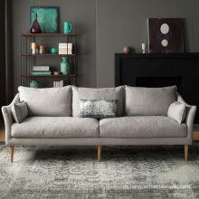 Sofá de tela moderna sala pequeña