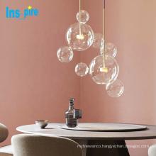 Modern nordic glass shade multi bubble pendant light led modern chandelier