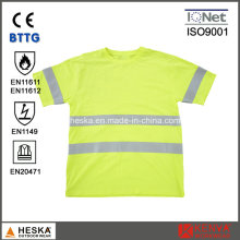 En11612 High Visibility Modacrylic Cotton Fr Short Sleeve T Shirt