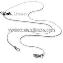 Cadena del collar del acero inoxidable de la señora de la longitud de los 45cm para la joyería que hace la cadena de la serpiente
